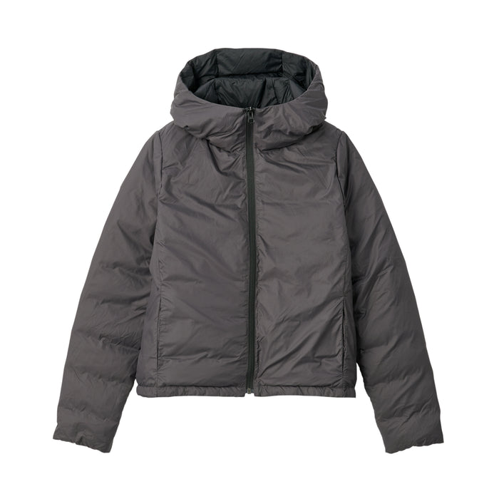 WOMENS LIGHT WEIGHT AUS DOWN POCKETABLE HOODED BLOUSON