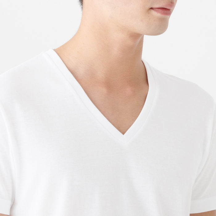 SIDE SEAMLESS V NECK T SHIRT 2 PACK