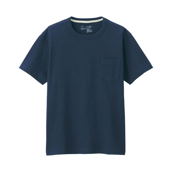 Men's Coarse Jersey Knit Short Sleeve T Shirt With Pocket
