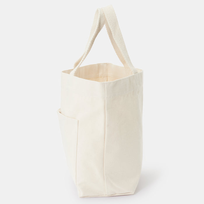 INDIAN COTTON TOTE BAG RAW WHITE