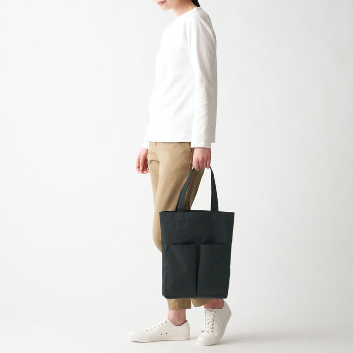 COLLAPSIBLE WATER REPELLENT TALL TOTE BAG