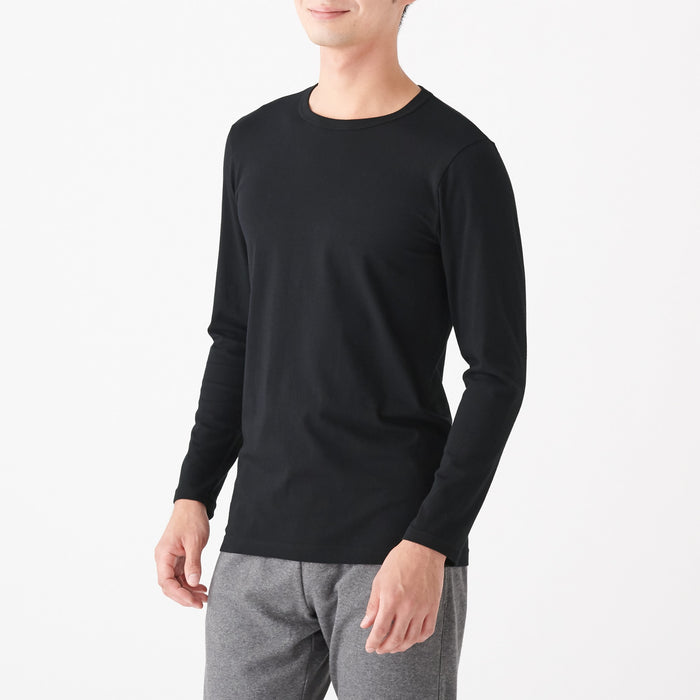 Men's Heat Generating Cotton Crew Neck Long Sleeve T-Shirt