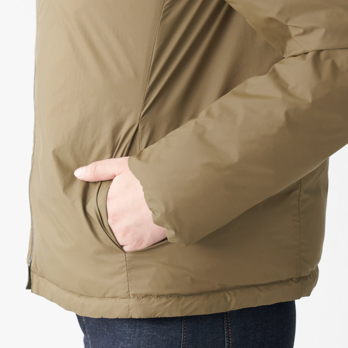 WOMENS LIGHT WEIGHT POCKETABLE HOODED DOWN JACKET