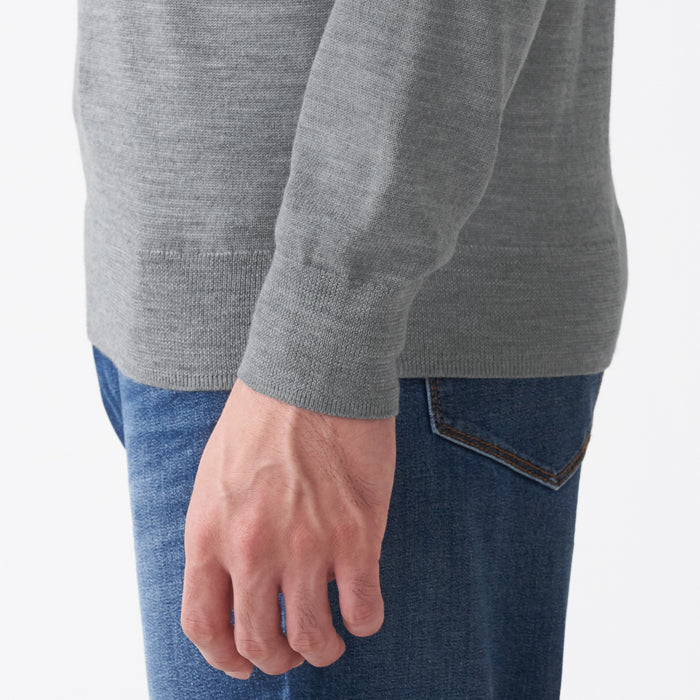 MEN'S MERINO WOOL WASHABLE V-NECK SWEATER