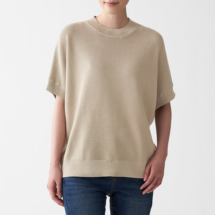 Women's Cotton Rayon Short Sleeve Sweater