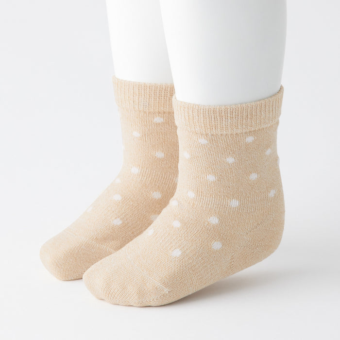 Baby's Right Angle Adjustable Dot Pattern Socks