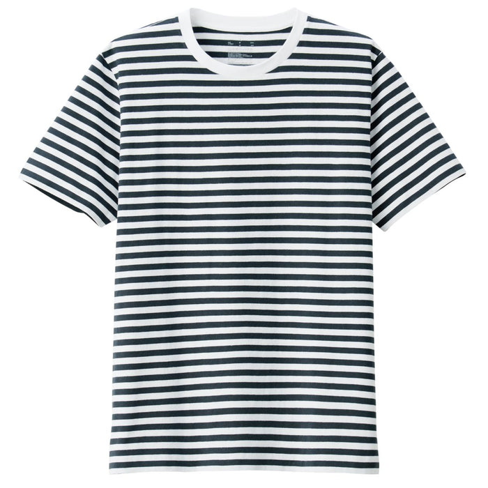 Men's Organic Cotton Striped Crew Short Sleeve