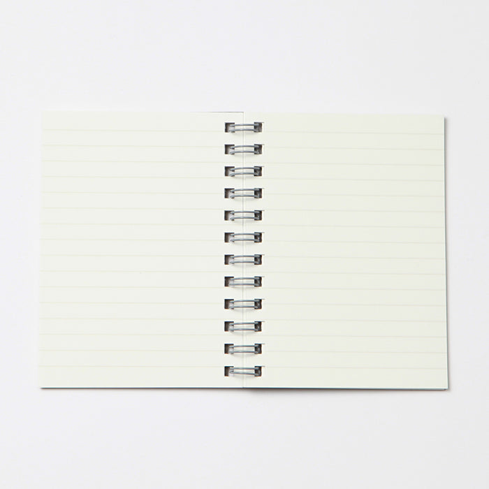 Dark Grey Double Ring Lined Notebook