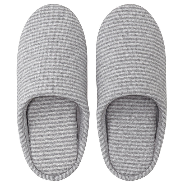 JERSEY KNITTED CUSHION SLIPPERS