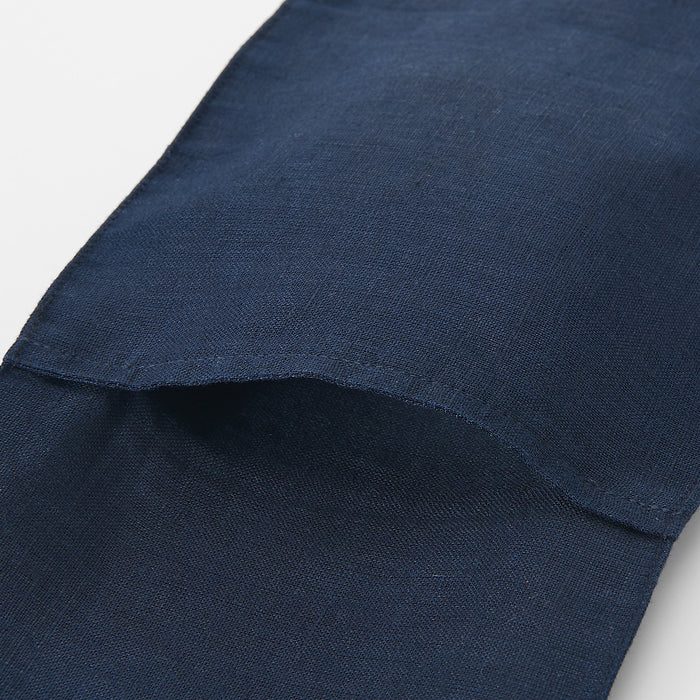 French Linen Scarf with Pocket