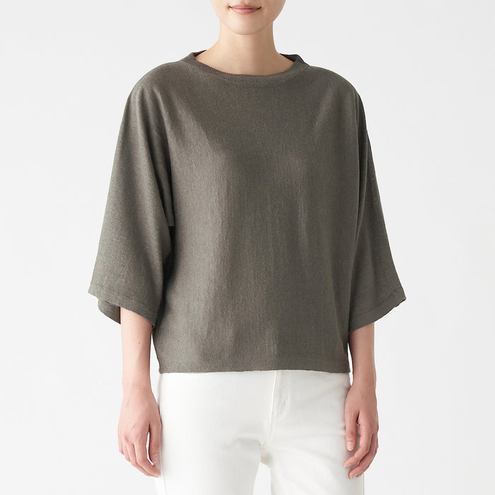 Women's French Linen Wide Sweater