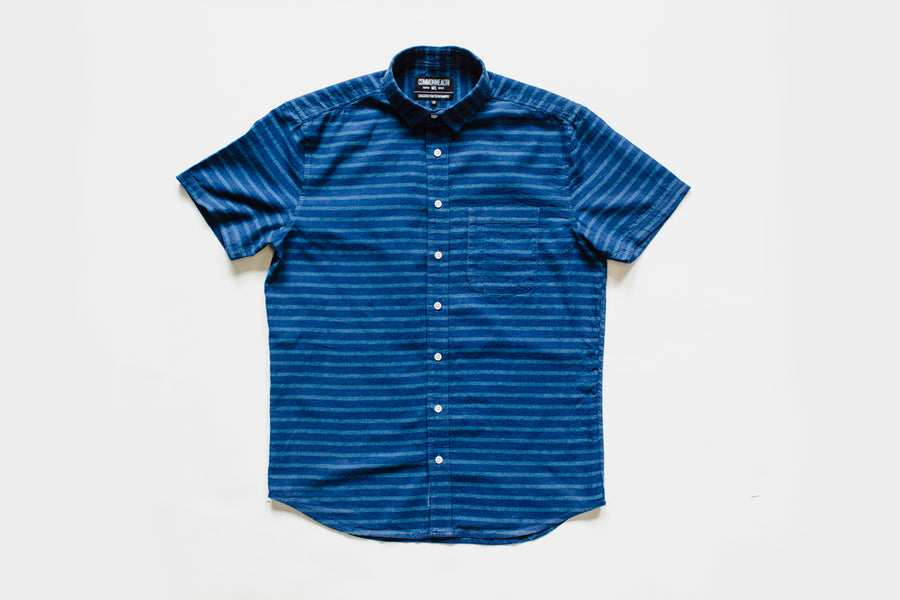 Blue Stripe Short Sleeve | 005