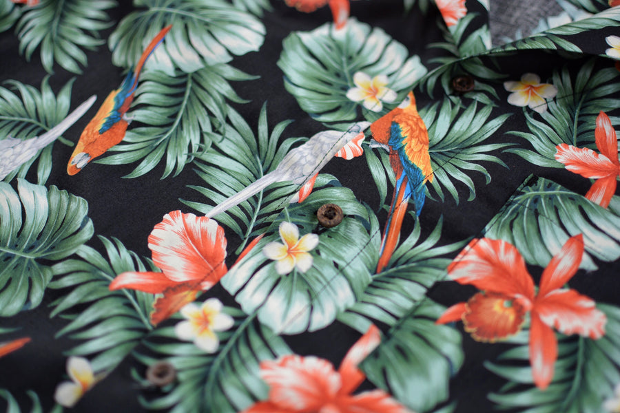 Black Tropical Shirt | 087