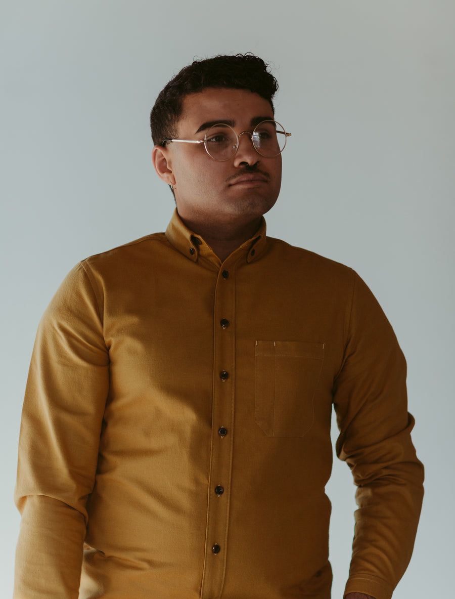 Mustard Flannel Shirt | 096