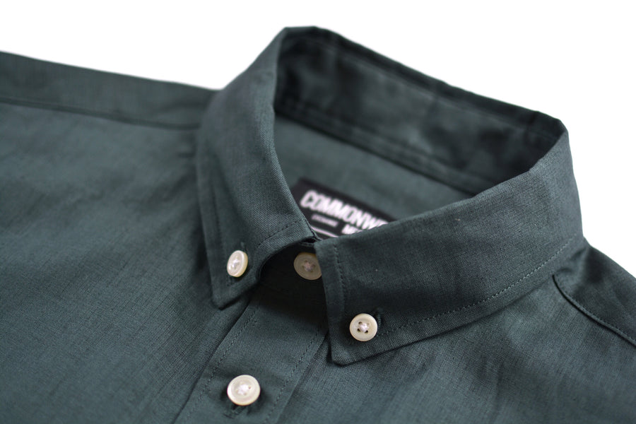 Moss Cotton/Linen Shirt | 093