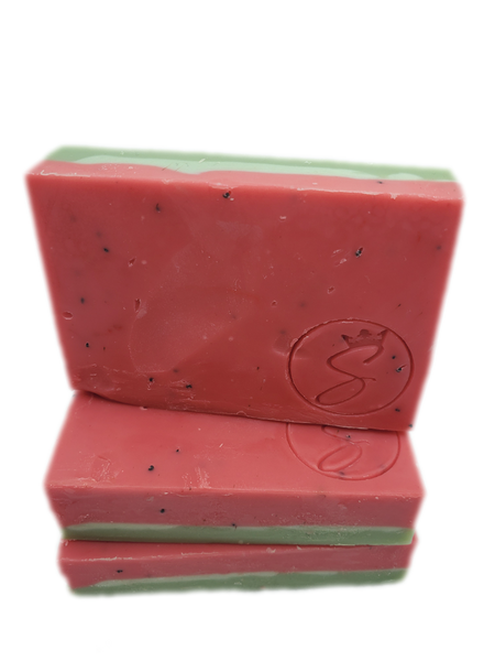 Mini Watermelon Scrub Soap