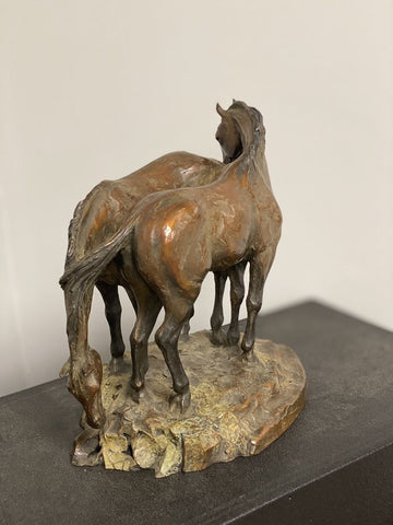"Tammy Tappan Bronze ""Tied At The Hip"""