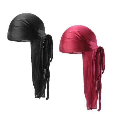 Black & Red 2 Pack Silky Durags - FRESHCOUPES
