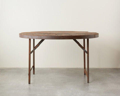 Primitive Round Folding Table