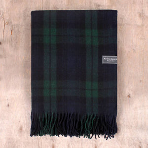 Black Watch Plaid Wool Blanket