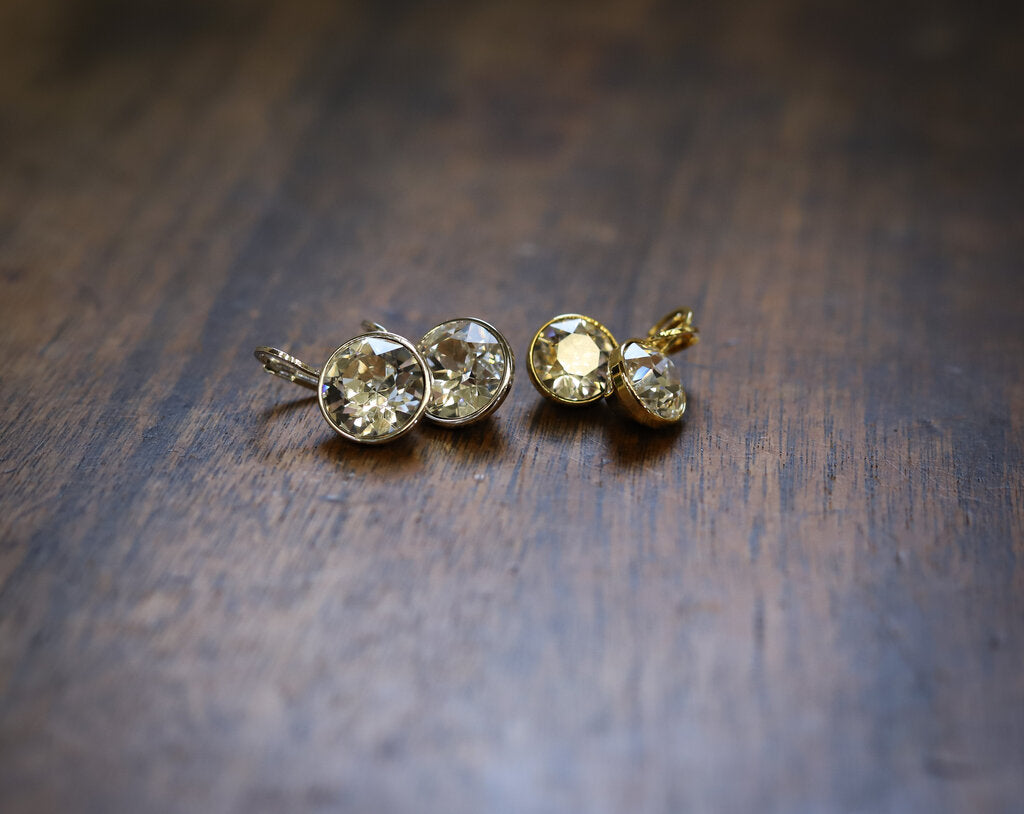 Gold Crystal Earring - Small