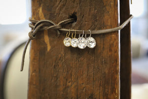 Silver Crystal Earring - Small