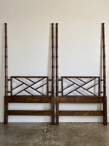 Pair Chippendale Tortoise Headboards