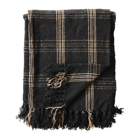 Black & Tan Cotton Throw