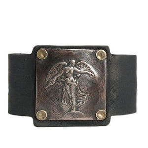Joan of Arc leather cuff