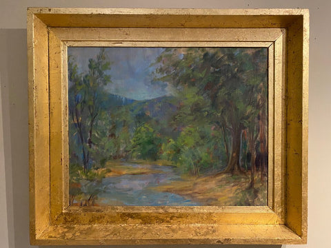 Oil Landscape with Goldleaf Frame