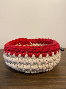 Red Trim Bowl Basket