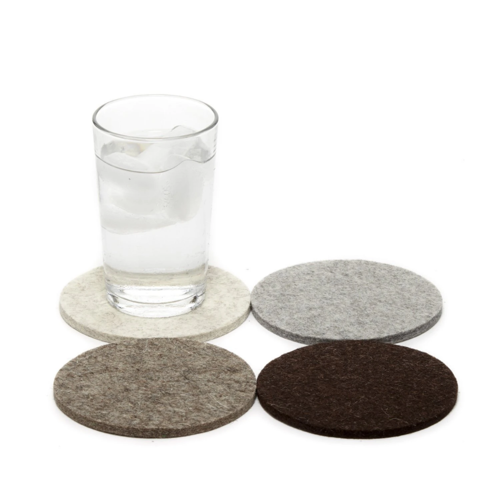 Graf Lantz Round Felt Coasters - Earth Set