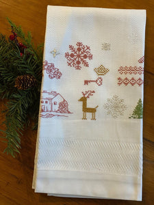 Stitched guest towel