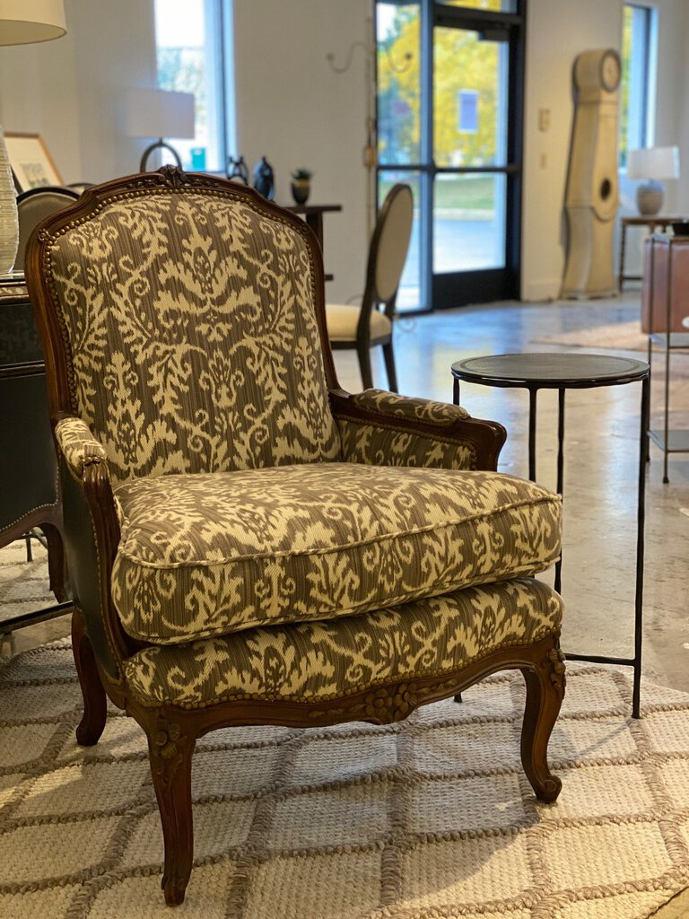 Bergere Damask Chair