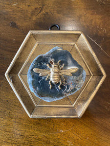 Grand Bee on Grey Agate Museum Bee