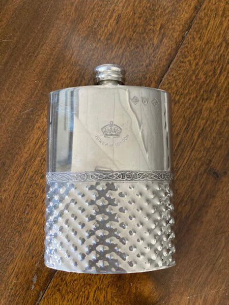 Tower of London Sheffield Silverplate Flask