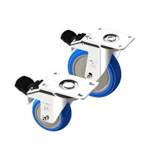 PLATE MOUNT SWIVEL CASTERS