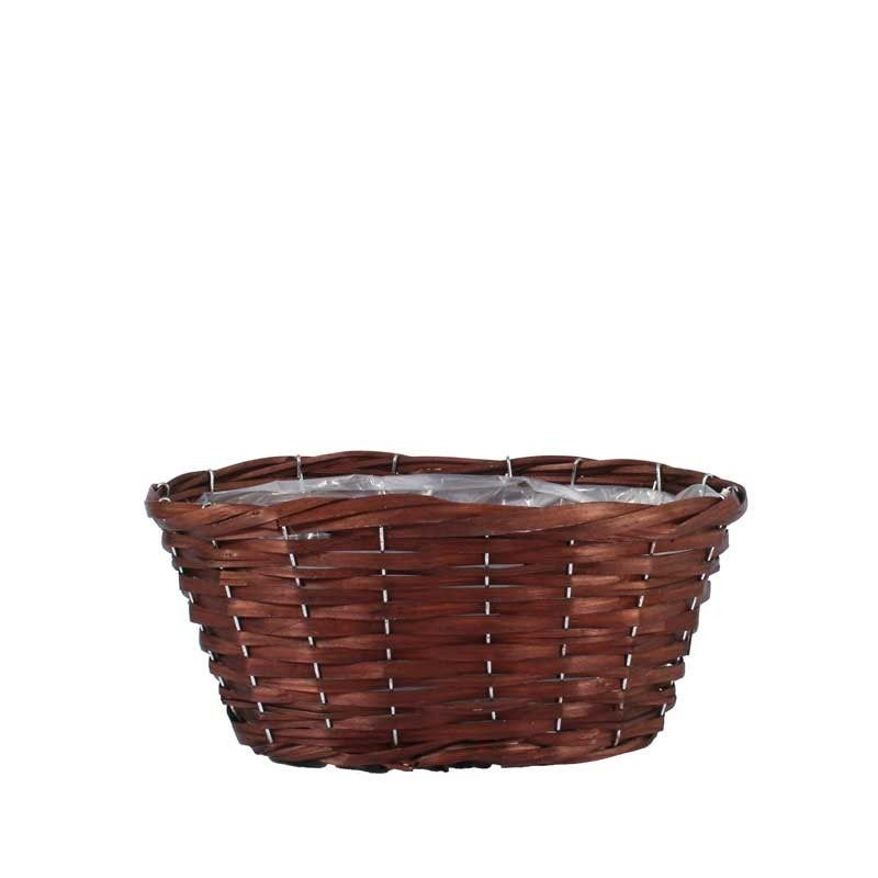 Woodhouse Oval Basket - Nut Brown (H18xO28cm)