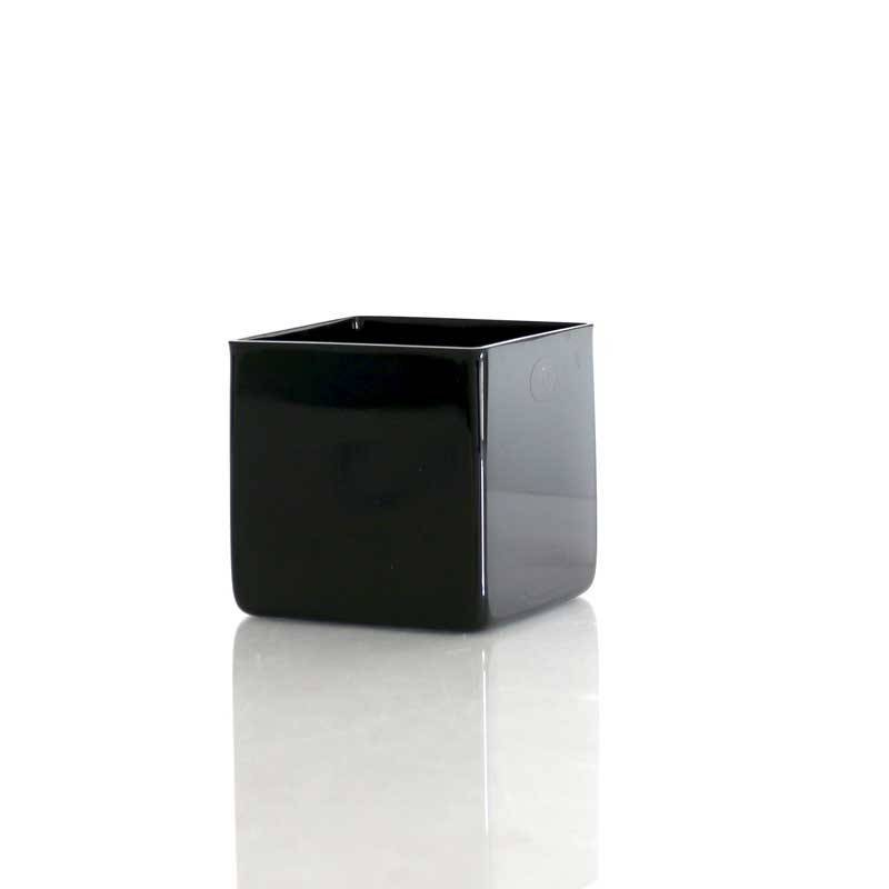Black Glass Cube (H10cm)