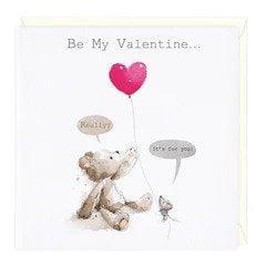 Be My Valentine Card (158X158mm) (x1)