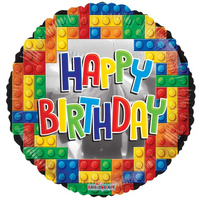 Happy Birthday Lego (18 inch)