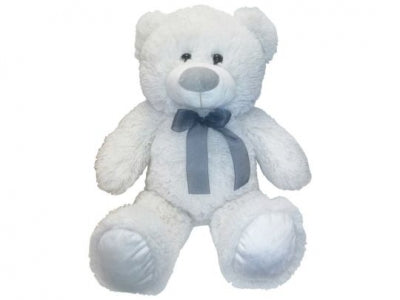 Sitting Teddy Bear White (H20cm) (x1)