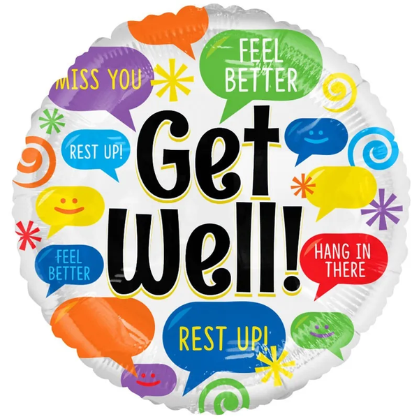 Get Well Balloon (18 inch) (x10)