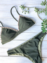 Load image into Gallery viewer, Olive Bikini Top