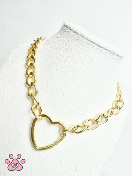 Heart Chain Necklace (gold)