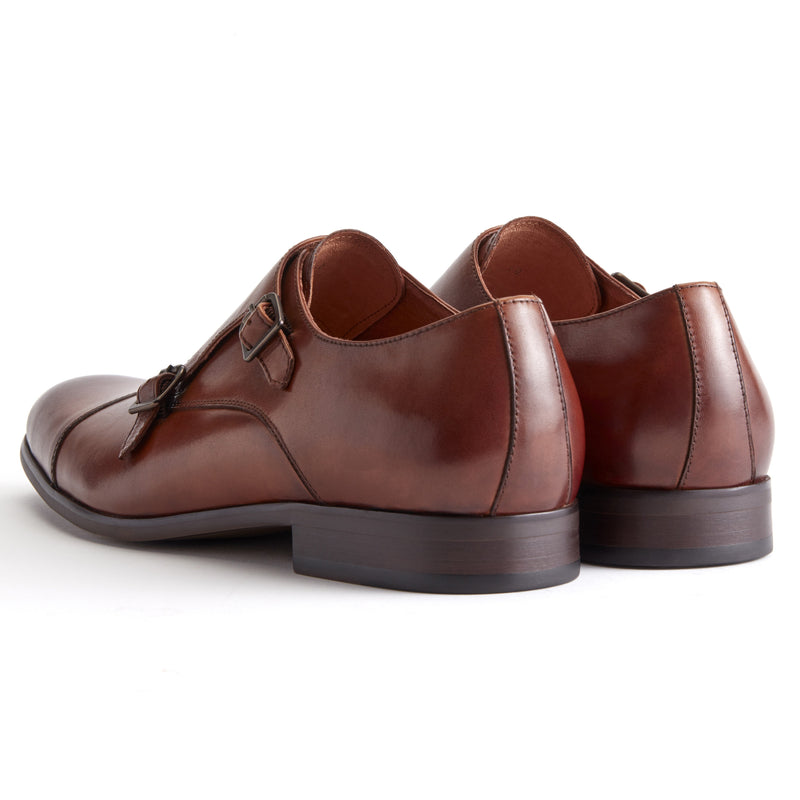 Brown Leather Double Monk Strap