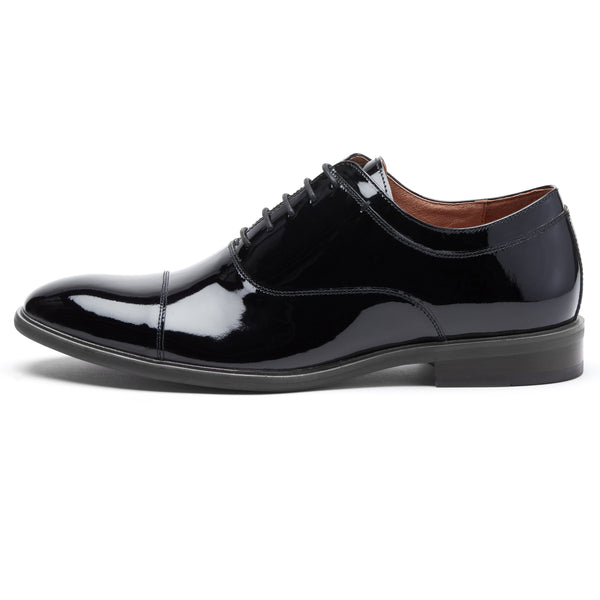 Black Patent Leather Oxford Dress Shoe