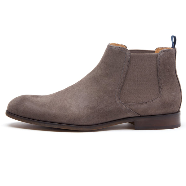 Grey Suede Chelsea Boot