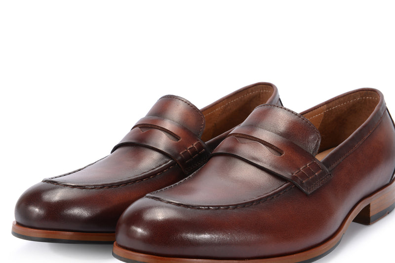Dark Brown Leather Penny Loafer