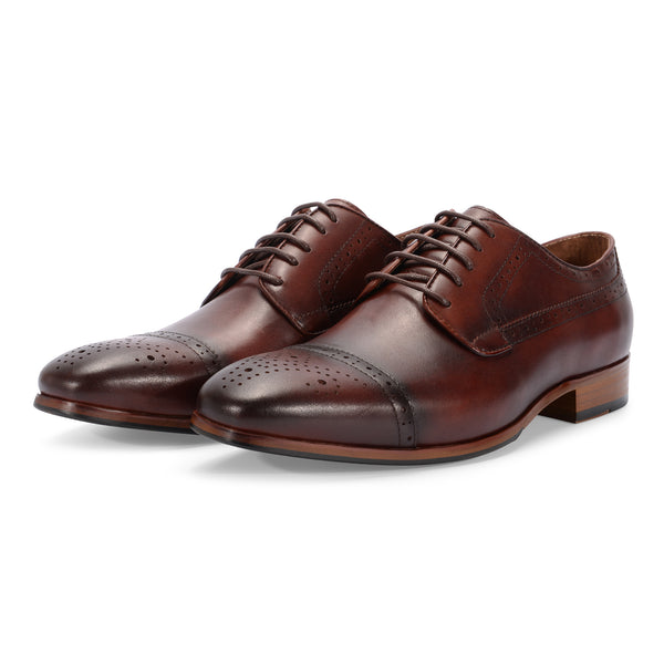 Dark Brown Brogue Lace Up Oxford
